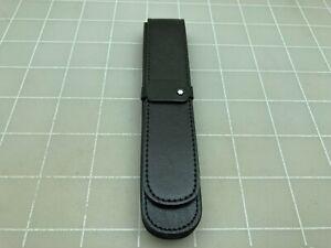 Judd's Very Nice Montblanc Black Leather Single Pen Case