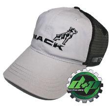 Mack Grey & Black Mesh Nascar semi truck hat cap adjustable snap back new