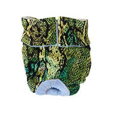 Dog Diapers - Made in USA - Green Snake Skin Washable Dog Diaper Dog Nappies ...