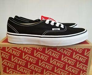 Vans Classic Authentic Black/White Skateboarding Lifestyle Shoes for Women