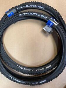 Pair Schwalbe 27.5 X 2.25  Nobby Nic Cycle Tyres 650B