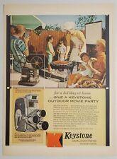 1958 Print Ad Keystone Movie Cameras & Projectors Outdoor Party Boston,MA