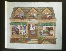 "Hand-painted Needlepoint Canvas Bright & Colorful ""Village Needlework Shoppe"""