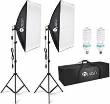 HPUSN Softbox Lighting Kit Professional Studio Photography Continuous Equipment
