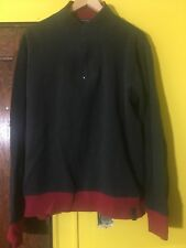 Kenneth Cole Mens Navy Blue Slim Fit Casual Half Zip Sweater Size Sz XL Vintage