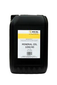 10W40 MINERAL ENGINE OIL 25 LITRE 25L API: SJ/CF. MIL-L-46153B (NOT 20L)