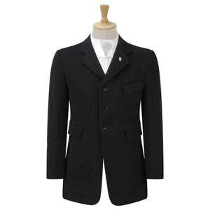 "Men's 40"" Caldene Wessex Mens Semi Hunt Coat - Black - WAS £403.20"