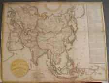 ASIAN CONTINENT 1808 DELAMARCHE & DION ANTIQUE ORIGINAL COPPER ENGRAVED MAP