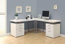 White 3Pc Hollow-Core L-Shaped Desk Set (2 Desks plus 1 Corner Wedge) I 7027-3