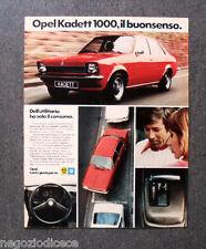 P735 - Advertising Pubblicità -1974- OPEL GM , KADETT 1000 , IL BUONSENSO