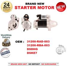 PARA HONDA 31200RAD003 31200RBA003 DSDHG DSKE7 MOTOR DE ARRANQUE NUEVO 1.0kW