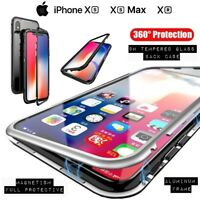 COVER Per Iphone XS / Max / XR Alluminio Crystal Glass MAGNETICA VETRO TEMPERATO