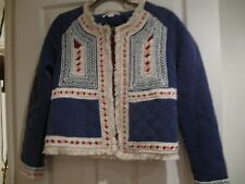 Pretty Ethnic Cropped Quilted Jacket from Anthropologie Size XS