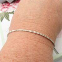 """925 Sterling Silver Bracelet  7"""" Wheat Chain"""