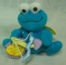 "Sesame Street COOKIE MONSTER AS CUPID 4"" Plush STUFFED ANIMAL Toy NEW"