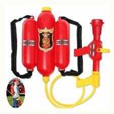 Water Gun Toy Fireman Backpack For Kids Summer Beach Outdoor Water Gun Pressure