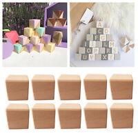 10 Stück quadratischer Holzwürfel Kinderspielzeug Bausteine, 10 Stück