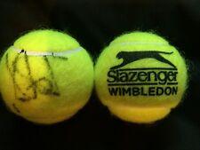 TENNIS: PETRA KVITOVA SIGNED SLAZENGER WIMBLEDON TENNIS BALL+COA