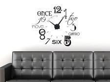 Wandtattoo Uhr Wanduhr mit Uhrwerk für WohnzimmerZahlen international modern