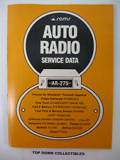 Sams Auto Radio Service Data     AR  275      March 1979