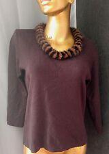 COLOURWORKS Women Sweater Pullover Elegant Genuine Mink Fur Neck Top Sz M