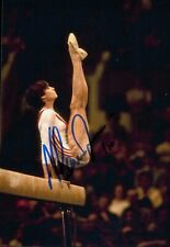 More details for nadia comaneci signed 6x4 photo olympic gymnast gold medallist autograph + coa