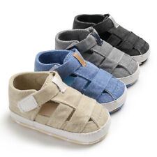 Fashion Baby Boy Crib Shoes Infant Toddler Summer Sandals Size 3 6 9 12 18 Month