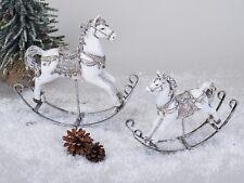 formano Deko Schaukelpferd Geschenk Nostalgie Tischdeko Weihnachtsdeko 27x22x6cm