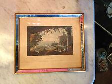 Antique English J Merigot Engraving Print  Villa Medicis