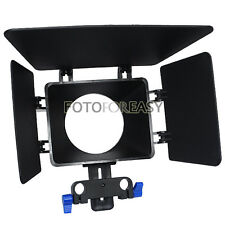 Caja mate Sombrilla Para 15mm soporte varilla Follow Focus Dslr 5dii 60d D90 550 600