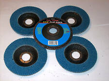 "5 CALHAWK 4-1/2"" ANGLE GRINDER FLAP DISCS 40 GRIT ZIRCONIA WHEELS GRINDING"