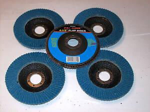 "5 CALHAWK 4-1/2"" ANGLE GRINDER FLAP DISCS 60 GRIT BLUE ZIRCONIA"