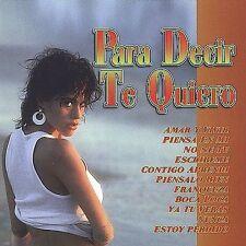 Various Artists : Para Decir Te Quiero CD