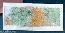 Vintage O.S. MAP - NORTH WEST - LANCASHIRE, CHESHIRE, S YORKS 1922, for framing