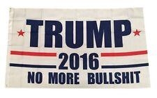 Donald Trump President 2016 No More BS Make America Great Again 3x5 Feet Flag