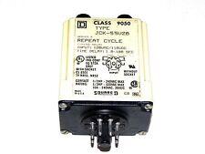 SQUARE D 9050-JCK-55V20 TIMING RELAY 240VAC 10A 1.8-180SEC 8PINS 9050JCK55V20