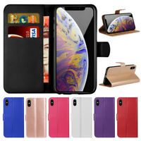 Case for iPhone 6 7 8 5s Se Plus XS Max Flip Wallet Leather Cover Magntic Luxury