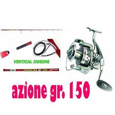 KIT CANNA ASAKU IKA 150g MULINELLO DOMINO 5000  PESCA VERTICAL JIGGING