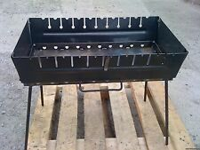10 skewer 2 Level Mangal Schaschlik GRILL brazier barbecue case BBQ chargrill