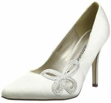 Anne Michelle Satin Court Shoes for Women