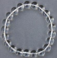 """Bracelet Cristal de roche 10 mm """"Large"""""""