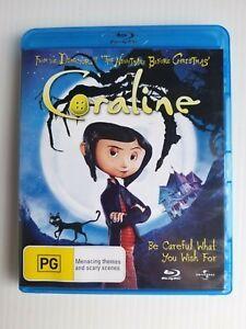 Coraline (Blu-ray, 2009) 🎬 FREE POST 📮