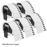 Etiketten 5 Rollen  P-Touch QL1050 1060 550 650 passend DK22205 kein Original