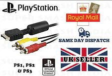 OFFICIAL GENUINE SONY PLAYSTATION 1, PS2, PS3 AV CABLE RCA TV LEAD