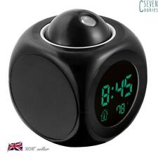 Multi-function Digital LCD Voice Talking LED Projection Alarm Clock Projector UK