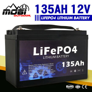 MOBI 12V 135AH Lithium Battery LiFePO4 Iron Phosphate Rechargeable 4WD Camping