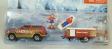 MATCHBOX HITCH N HAUL VACATION DAY JEEP CHEROKEE CAMPER CARAVAN TRAVEL TRAILER