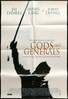 GODS AND GENERALS Robert Duvall Original 2002 1 ONE SHEET MOVIE POSTER 27 x 40