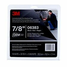 3M 06383 Automotive Acrylic Plus Attachment Tape Black 45 mil (7/8 in x 20 yd)