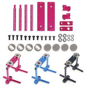 Alloy Magnetic Stealth Invisible Body Shell Mount Set For HSP Sakura 1/10 RC Car